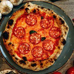 The pepperoni pizza ciliegino restaurant Cardiff